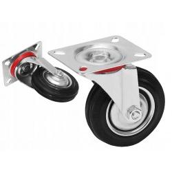 """Koło metalowe kółko obrotowe przykręcane Fi 100mm 4"""" cale kółka do wózka"""