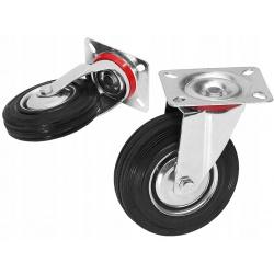 """Koło metalowe kółko obrotowe przykręcane Fi 125mm 5"""" cali kółka do wózka"""