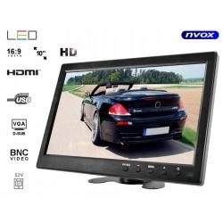 Monitor LED 10 cali HDMI VGA USB AV 230V BNC obudowa SLIM