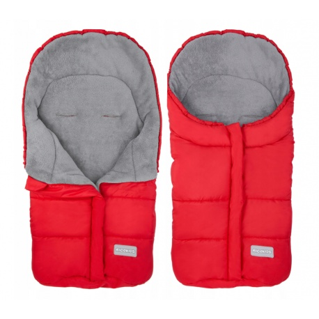 Śpiworek dziecięcy ocieplany 85 x 40 cm do wózka gondoli na sanki czerwony