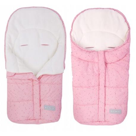 Śpiworek dziecięcy ocieplany 85 x 40 cm do wózka gondoli na sanki różowy