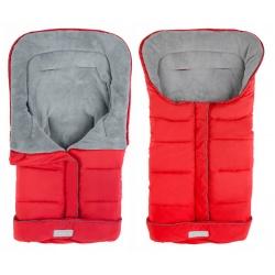 Śpiworek dziecięcy ocieplany 96 x 45 cm do wózka gondoli na sanki czerwony