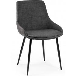 Krzesło skandynawskie klasyczne tapicerowane z wygodnym oparciem