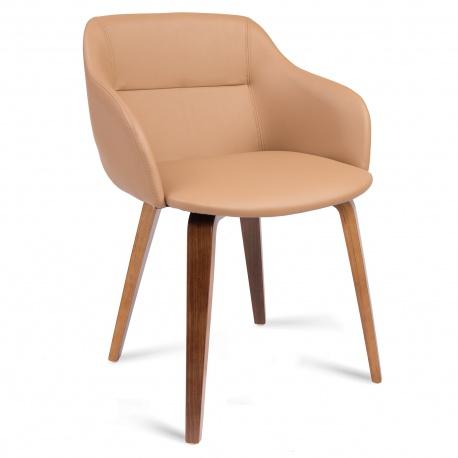 Krzesło skandynawskie do kuchni salonu miękkie siedzisko drewniane nogi