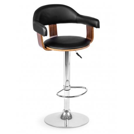 Hoker barowy krzesło kuchenne z oparciem i podłokietnikami drewno