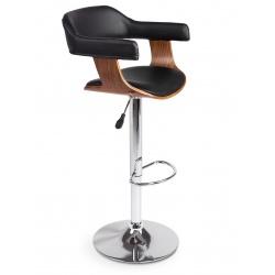 Hoker barowy krzesło kuchenne z oparciem miękkie podłokietniki drewno