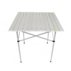 Składany stolik turystyczny lekki 70 x 70 x 70 cm aluminiowy piknikowy