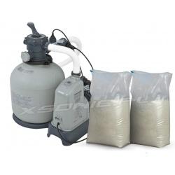 Pompa piaskowa i generator chloru 10000 l/h INTEX + piasek 50kg 28680