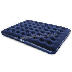 Duży dmuchany materac welurowy 203 x 152 x 22 cm Queen Blue Bestway 67003