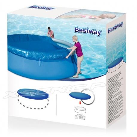 Pokrywa do basenów ogrodowych rozporowych o średnicy 457 cm Bestway 58035