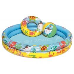 Basenik dla dzieci mały basen 61x20 cm kółko do pływania piłka Bestway 51124