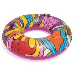 Duże dmuchane koło do pływania z uchwytami Pop Swim 119 cm Bestway 36125