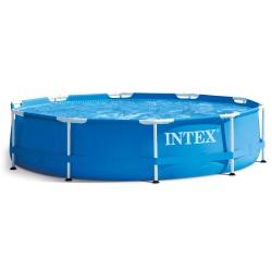 Okrągły basen stelażowy 305 x 76 cm ogrodowy Intex 28200 niebieski