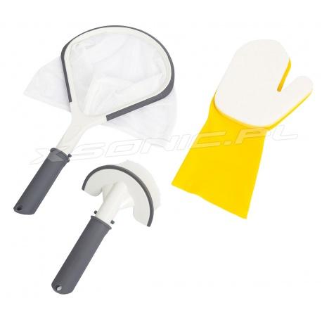Zestaw czyszczący do basenów i Lay-Z SPA szczotka gąbka Bestway 60310