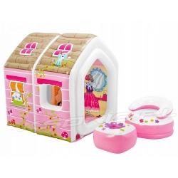 Domek dla dzieci dmuchany otwierany 124 x 109 x 122 cm INTEX 48635