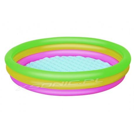 Tęczowy basen dmuchany pompowane dno 152 x 30 cm Bestway 51103
