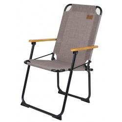 Krzesło turystyczne składane kempingowe Brixton Taupe BO-CAMP