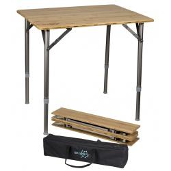 Składany stół turystyczny blat 65x50 piknikowy bambusowy Bamboo