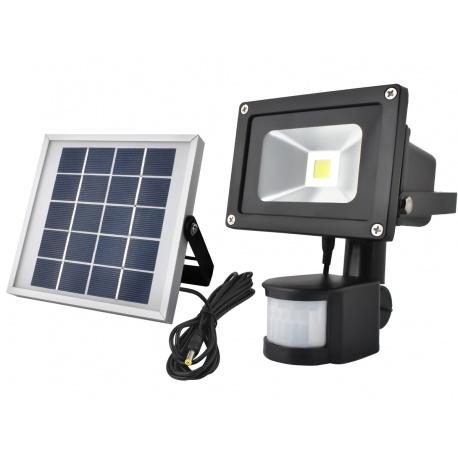 Halogen LED lampa solarna z czujką czujnikiem ruchu zmierzchu COB