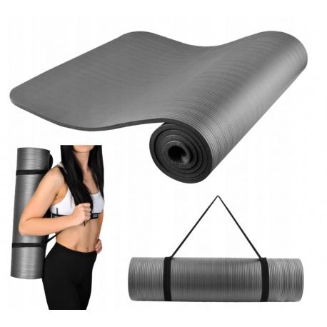 Gruba mata do ćwiczeń Joga Fitness Fizjo NBR 1 cm wodoodporna materac