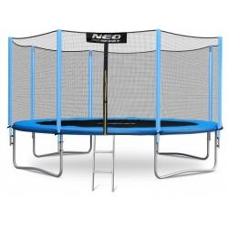 Największa trampolina ogrodowa 15ft/465cm z zewnętrzną siatką ochronną drabinka
