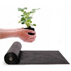 Agrotkanina ogrodowa 1,6 m x 100 metrów 70g/m2 rolka czarna agrowłóknina 100 szpilki