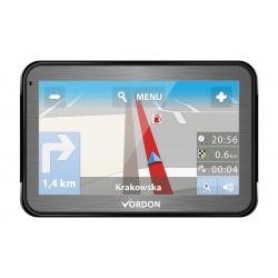 """Nawigacja GPS VORDON 5"""" aluminiowa obudowa odtwarzacz filmów muzyki"""