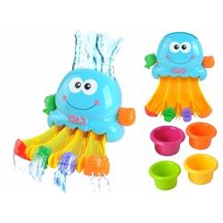 Zabawka do kąpieli wanny ośmiornica wodospad fontanna zjeżdżalnia kubeczki