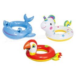 Dmuchane kółko dla dzieci do pływania Wesołe Zwierzaki Bestway 36128