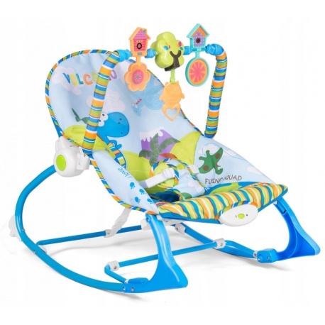 Multifunkcyjny leżaczek dla dzieci z wibracją i muzyką niebieski różowy