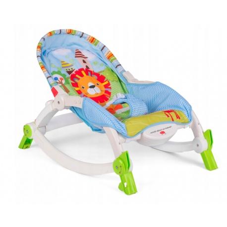 Multifunkcyjny składany leżaczek z daszkiem dla dzieci wibracja pasy