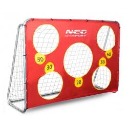 Bramka do piłki gry w piłkę rzuty karne 215 x 153 x 76 cm + mata celownicza