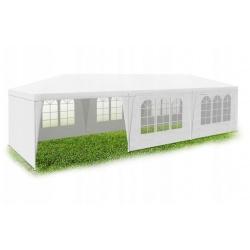 Pawilon ogrodowy namiot handlowy 9 x 3 x 2,65 m 8 ścianek duże okna