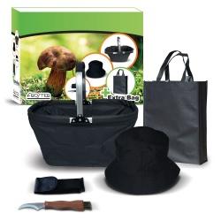 Zestaw grzybiarza nóż koszyk czapka torba papierowa do zbierania grzybów