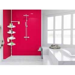 Półka prysznicowa narożna na gąbki myjki żele pod pryszcznic uniwersalna
