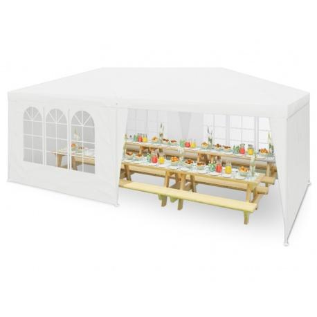 Pawilon ogrodowy namiot handlowy z oknami 3 x 6 x 2,65 m 12 okien