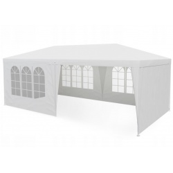 Pawilon ogrodowy 600 x 300 x 250 cm namiot handlowy biały zielony