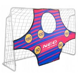 Duża bramka do piłki nożnej piłkarska Neo-Sport 245 x 155 x 80 cm mata celownicza
