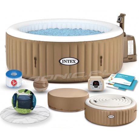 Dmuchane SPA masażem pokrywa podgrzewacz wody 196 x 71cm INTEX 28474
