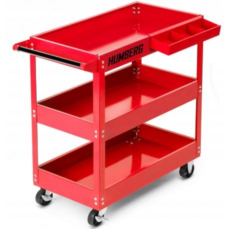 Wózek na narzędzia organizer warsztatowy narzędziowy trzy półki kółka skrętne