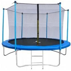 Trampolina ogrodowa 252cm z siatką wewnętrzną drabinka dla dzieci 8ft