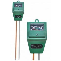 Kwasomierz miernik tester pH gleby wilgotności ziemi i natężenia światła
