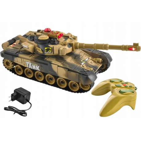 Duży czołg RC zdalnie sterowany War Tank 9993 licznik trafień 2 kolory