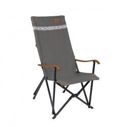 Krzesło turystyczne leżak kempingowy składany fotel brązowo-szary BO-CAMP
