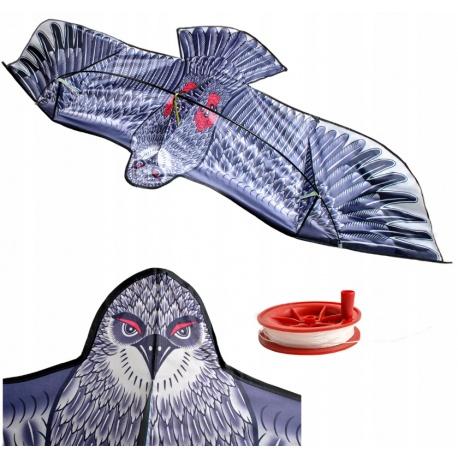 Duży latawiec orzeł 2 metry szerokości ptak jak prawdziwy z linką 50 metrów