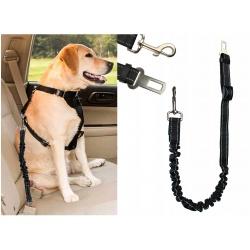 Pasy bezpieczeństwa do przypięcia pieska dla Psa elastyczna smycz do samochodu