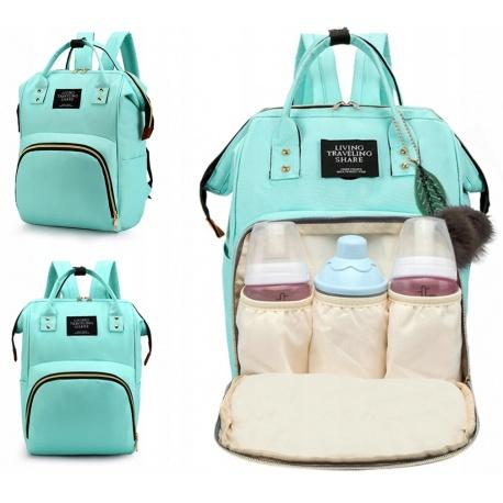 Modna torba do wózka plecak dla mamy taty organizer na butelki pieluszki 3w1