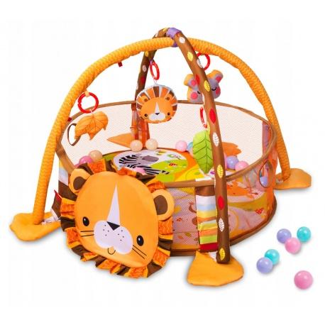Mata edukacyjna dla najmłodszych dzieci kojec z piłkami Ricokids LEW