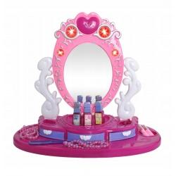 Toaletka dla dziewczynek zabawka obrotowe lustro akcesoria do zabawy