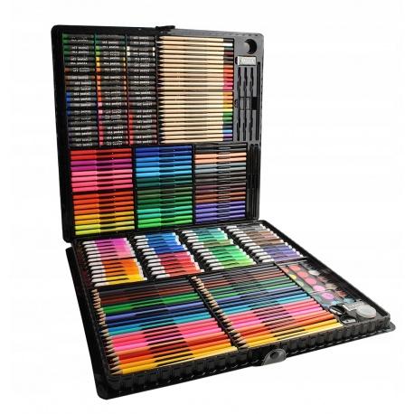 Zestaw do malowania artystyczny rysowania walizka kredki farby 258 elementów